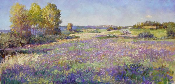 Paul de Maria, Field of Violet Flowers. Click here to visit Paul's website.