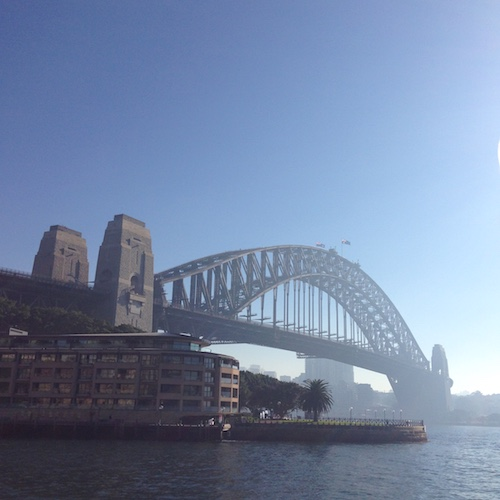 My phone is full of pictures of the Sydney Harbour Bridge and the Opera House. I lived in Sydney for eleven years and I had to take a picture every time I went past.